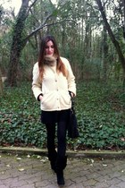 Zara boots - Burberry jacket - amitie scarf - Pedro del Hierro bag