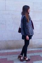 Zara dress - Zara jacket - Zara leggings - Sintesis vest - Zara cardigan