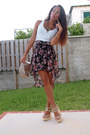 Black-seductions-skirt-white-forever-21-shirt-eggshell-mango-purse
