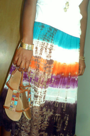 brown skirt - blue skirt - white skirt - orange skirt - purple skirt