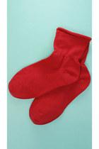 color socks red TPRBTCOM socks