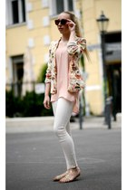 Primark blazer - off white Zara pants - pink Mango top - SequinShoes sandals