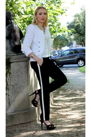 Zara pants - Zara blazer - H&M accessories