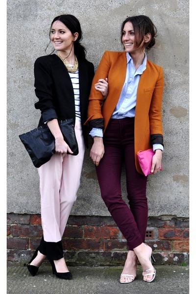 Zara pants - Fasion Union blazer - American Apparel shirt - Zara bag