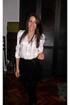 Zara shoes - silk H&M shirt - Pull & Bear skirt