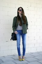 Choies coat - OASAP bag - Zara heels