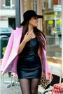 Bubble-gum-carven-coat-black-myca-couture-hat-brown-river-island-bag