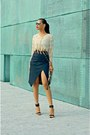 Brown-river-island-bag-black-zara-heels-navy-denim-river-island-skirt