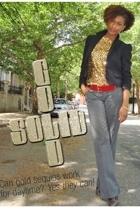 vintage jacket - vintage top - vintage belt - Urban Outfitters pants