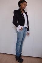 vintage blazer - H&M jeans - Sigerson Morrison boots