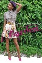 Moda International blouse - forever 21 skirt - vintage shoes