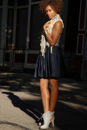 BDG top - Urban Outfitters scarf - H&M skirt - Jeffrey Campbell shoes