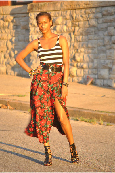 vintage skirt - ASH shoes - Forever21 top