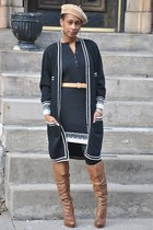 Jessica Simpson boots - Victorias Secret dress - vintage dress