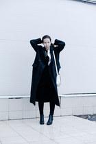 black H&M shoes - dark gray from Korea coat - white vintage blazer