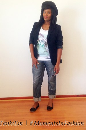 Two In The Shirt t-shirt - Woolworths jeans - Zara blazer