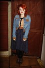 Brogues-primark-shoes-denim-forever-21-jacket-polka-dot-miss-selfridge-shirt