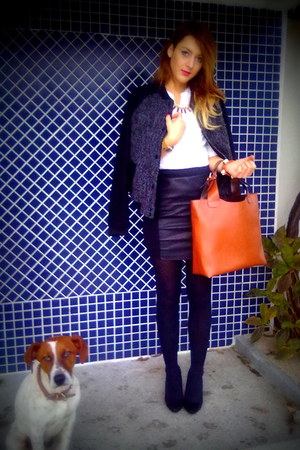 pull&amp;bear jacket - Zara bag - Zara accessories - Primark heels