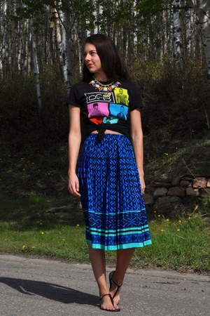 black BSB Concert Shirt t-shirt - blue midi thrifted skirt