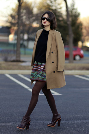 All Saints coat - Anthropologie skirt