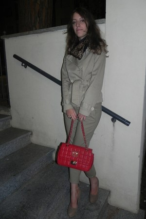 Moschino bag - Brandy &amp; Melville blazer - Fendi scarf - Tally Weijl pants