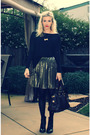 Black-nasty-gal-shirt-black-seychelles-shoes-gold-h-m-skirt-brown-marc-by-
