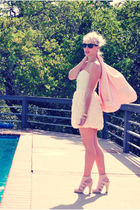 pink Forever 21 blazer - white H&M dress - pink H&M shoes