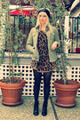 Green-old-gap-jacket-brown-vintage-sweater-black-babooshka-accessories-bla