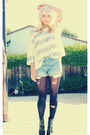 White-young-fabulous-broke-top-blue-vintage-levis-shorts-black-forever-21-