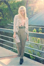 Pink-forever-21-intimate-purple-h-m-cardigan-brown-zara-pants-gray-steve-m