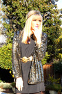 Gold-vintage-cardigan-black-queens-wardrobe-dress-gold-vintage-accessories-