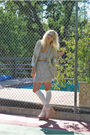 Beige-j-crew-blazer-purple-nasty-gal-dress-white-american-apparel-socks-pi
