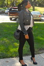 Black-leather-jacket-shirt-black-shoes-pumps