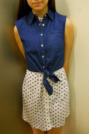 blue delias vest - heart delias dress