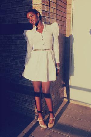 shirt - skirt - heels
