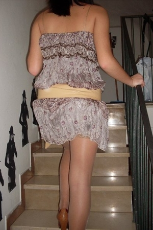 Miss Sixty shoes - christian dior stockings - inperial fashion dress
