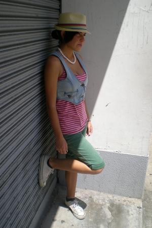 Converse shoes - pants - Zara t-shirt - blazer - valcom hat