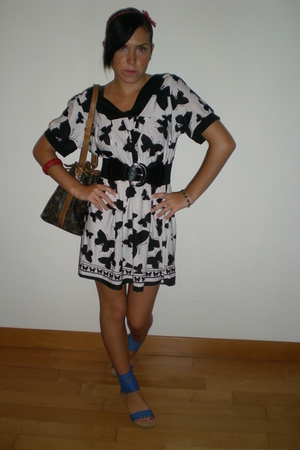 dress - belt - Zara shoes - Louis Vuitton purse - bracelet - accessories