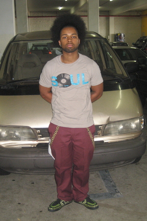 silver Old Navy shirt - brown  accessories - red Dickies pants - green TUK shoes