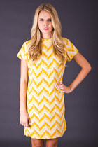 Vintage Chevron Stripe Mod Mini in Lemon Yellow