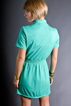 Aquamarine Mint Mini Telltale Hearts Vintage Dresses