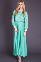 Vintage Mint Maxi with Lace Trim