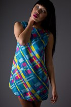 Neon-print-mini-telltale-hearts-vintage-dress