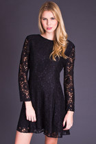 Vintage Black Lace Skater Dress