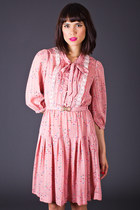 Vintage Pretty in Pink Mini Dress