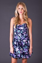 Vintage Sweetheart Sundress in Navy Floral