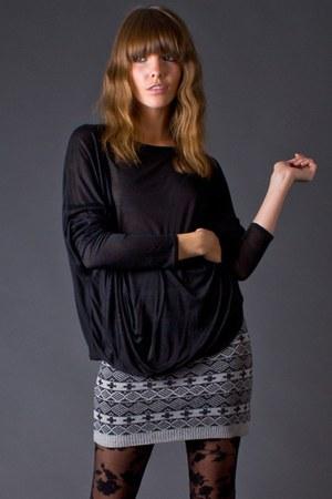 heather gray knit mini skirt funktional skirt