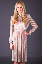Vintage Ultra Sheer Ribbon Stripe Dress