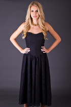 Vintage Sweetheart Party Dress in Black Lace