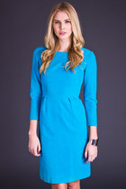 Vintage Velvet Wiggle Dress in Turquoise